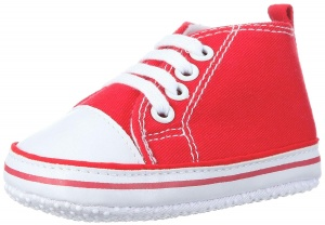 Playshoes baby shoes Canvasjunior red