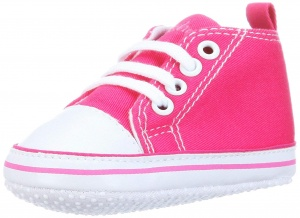 Playshoes baby shoes Canvasgirls pink