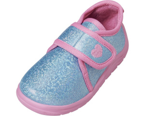 Playshoes baby shoes girls textile turquoise/pink