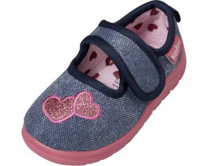 Playshoes baby shoes girls textile blue/pink