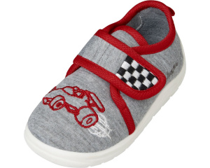 Playshoes baby shoes racing car junior textile grey