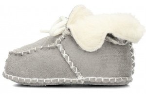 Playshoes baby shoes sheepskin grey