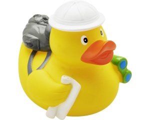 Playshoes badeend Bath Ducklings backpacker junior 6 cm geel