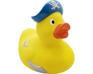 Playshoes badeend Bath Ducklings kapitein junior 6 cm geel