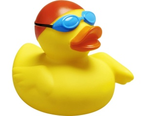 Playshoes badeend Bath Ducklings zwemmer junior 6 cm geel
