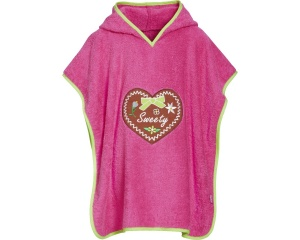 Playshoes badponcho heart pink girls