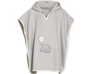 Playshoes badponcho olifant grijs junior