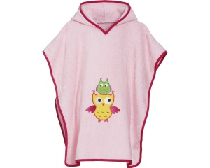 Playshoes badponcho uil roze junior