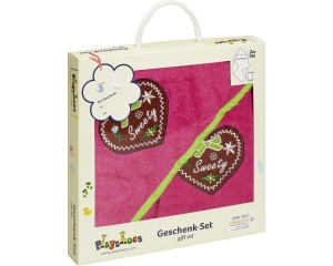 Playshoes badset in cadeauverpakking Sweety 2-delig roze