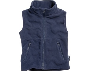 Playshoes bodywarmer fleece junior donkerblauw
