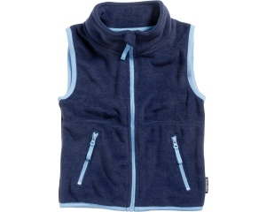 Playshoes bodywarmer fleece junior navy/lichtblauw