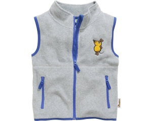 Playshoes bodywarmer fleece Muis junior grijs