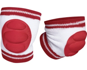 Playshoes kniebeschermers junior wit/rood one size