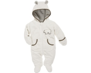 Playshoes knuffelig fleece overall met rits junior beige