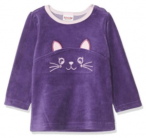 Playshoes pyjama shirt Cat girls purple