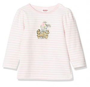 Playshoes pyjama shirt Elephant girls pink/white