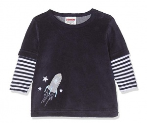Playshoes Schnizler trui velours junior navy