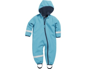 Playshoes softshell overall aqua junior