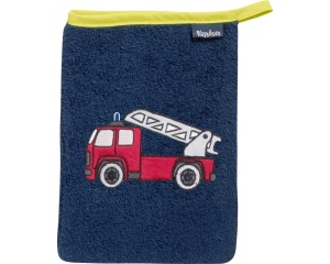 Playshoes washcloth fire brigade 20 cm dark blue