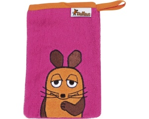 Playshoes washcloth mouse 20 cm pink