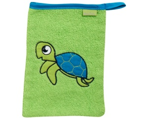 Playshoes washcloth turtle 20 cm green