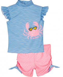 Playshoes maillot de bain Crab girls polyester 2 pièces