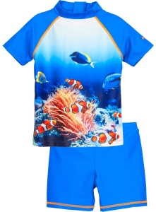 Playshoes swimming set KoraalUV-resistant blue 2-piece