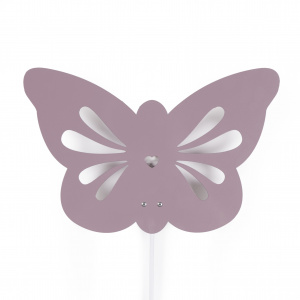 Roommate lamp Butterfly 7W junior staal 30 cm roze 3-delig
