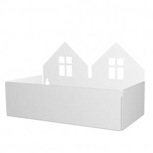 Roommate storage trays Twin House 22cm white