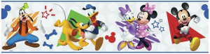 RoomMates muursticker Mickey & Friends 22,8 x 457 cm vinyl wit