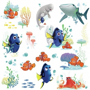RoomMates stickers muraux Finding Dory vinyle 19 pièces