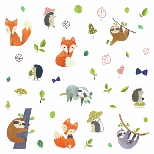 RoomMates muurstickers Forest Friends vinyl 41 stuks