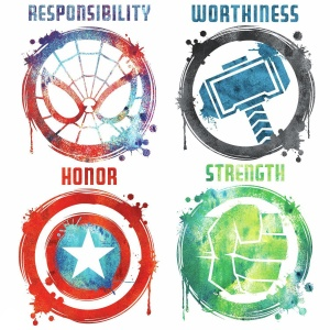 RoomMates wall stickers Marvel Icons vinyl 8 pieces