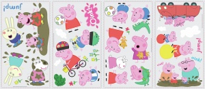 RoomMates wall stickers Peppa Pig vinyl 28 pieces