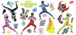 RoomMates muurstickers Power Rangers junior vinyl 24-delig