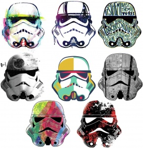 RoomMates stickers muraux Star Wars SuperTrooper vinyle 8 pièces