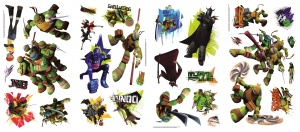 RoomMates wall stickers Teenage Mutant Ninja Turtles vinyl 30 pieces