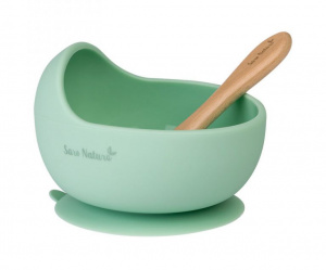 Saro etching set Wave wood mint green 2-piece