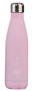 Saro thermosfles RVS 500 ml 26 cm roze