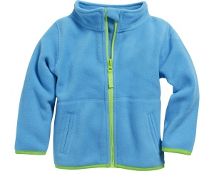 Schnizler babyjack met rits fleece junior aqua