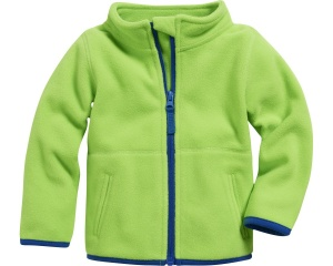 Schnizler babyjack met rits fleece junior groen