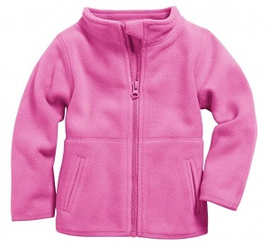 Schnizler babyjack met rits fleece junior roze