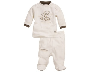 Schnizler babypyjama Nicki Beer junior beige