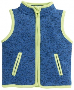 Schnizler bodywarmer Knitted Fleece junior blauw