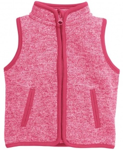 Schnizler bodywarmer Knitted Fleece junior roze