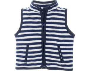 Schnizler bodywarmer Maritiem fleece junior navy/wit