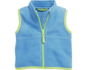 Schnizler bodywarmer met rits fleece junior aqua