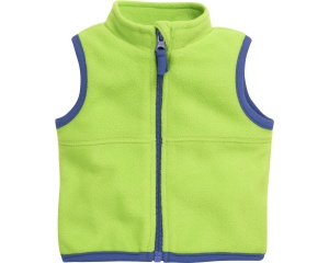 Schnizler bodywarmer met rits fleece junior groen