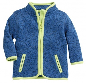 Schnizler kinderjack Knitted Fleece junior blauw