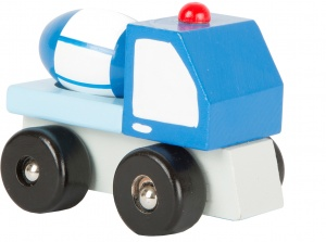 Small Foot cement car blue 7 x 5 cm